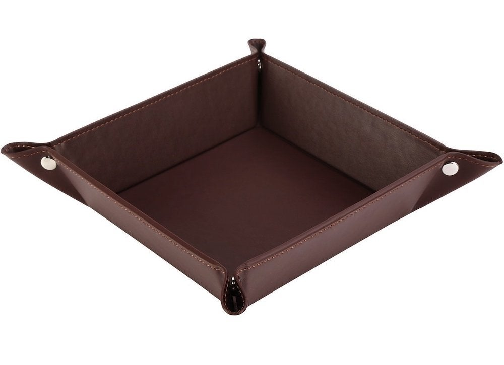 Leather-tray