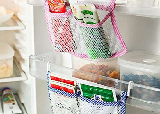 Demarkt Hanging Fridge Door Organizer Mesh Bag