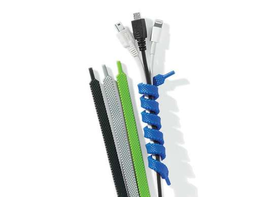 Silicone shoelace cable ties