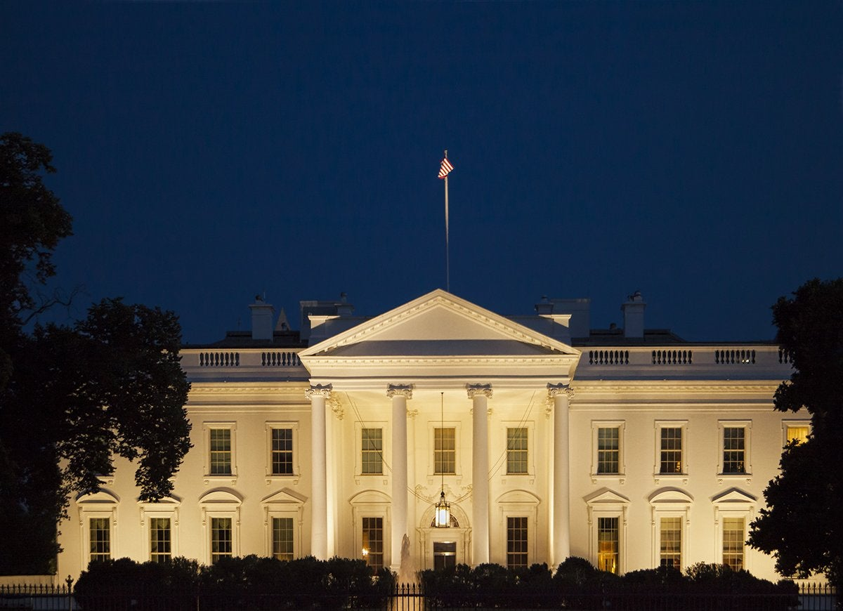 White house nighttime