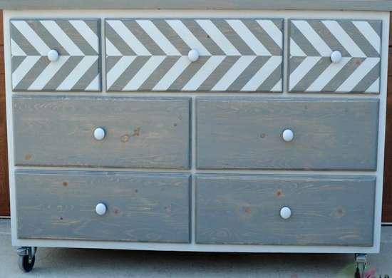 DIY Dresser Chevron