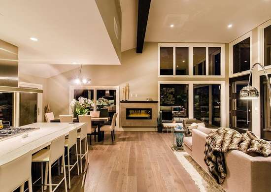 Beige open floor plan