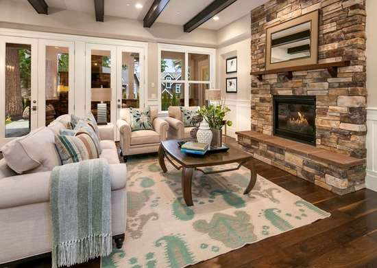 Beige living room coastal