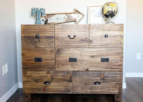 Rustic diy dresser