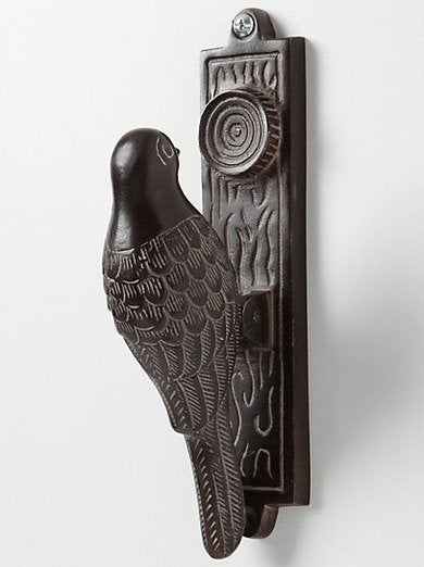 Anthropologie woodpecker doorknocker