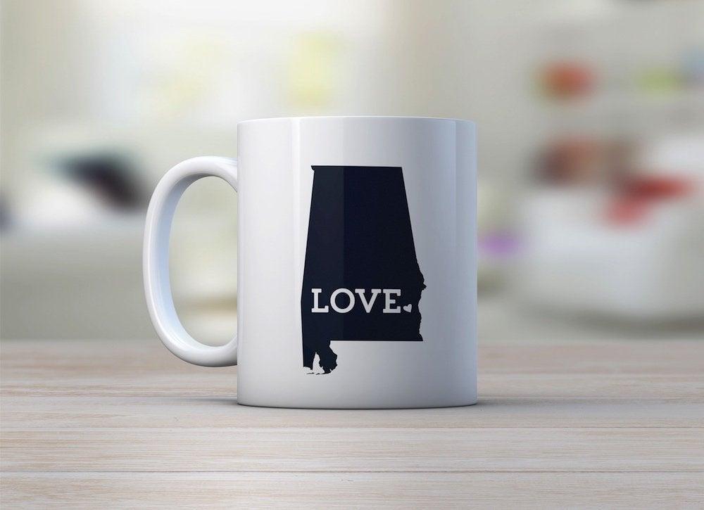 Alabama state pride gift mug