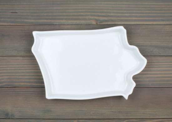 Iowa ceramic plate