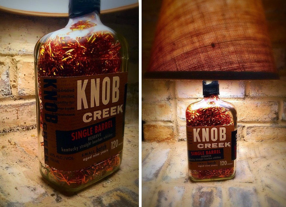 Kentucky knob creek bourbon whiskey lamp