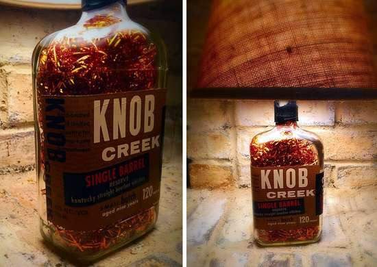 Kentucky knob creek bourbon whiskey lamp