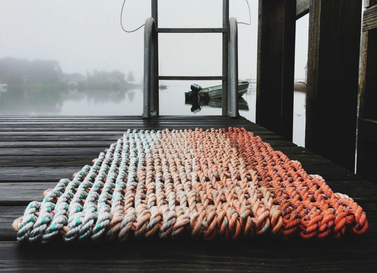 Maine lobster rope doormat