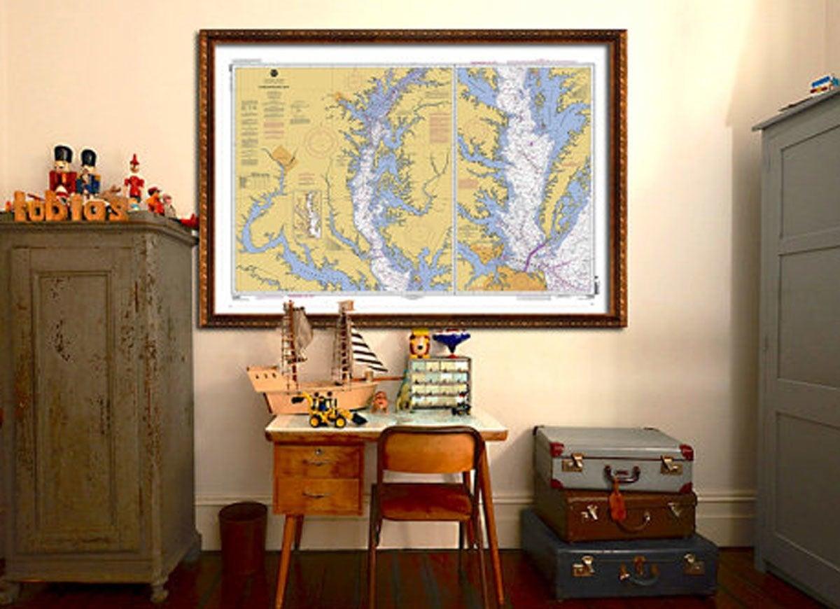 Maryland nautical map
