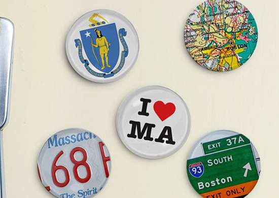 State Fridge Magnet Set