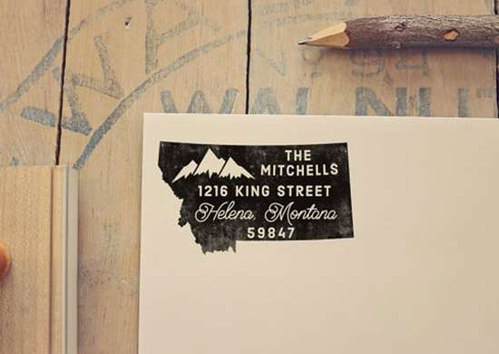 Montana Personalized Return Address Stamp