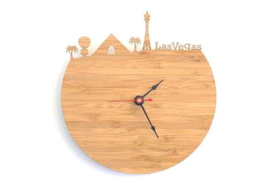 Las vegas skyline clock