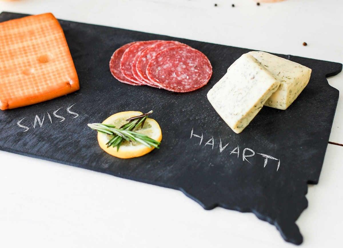 South dakota slate cheese board
