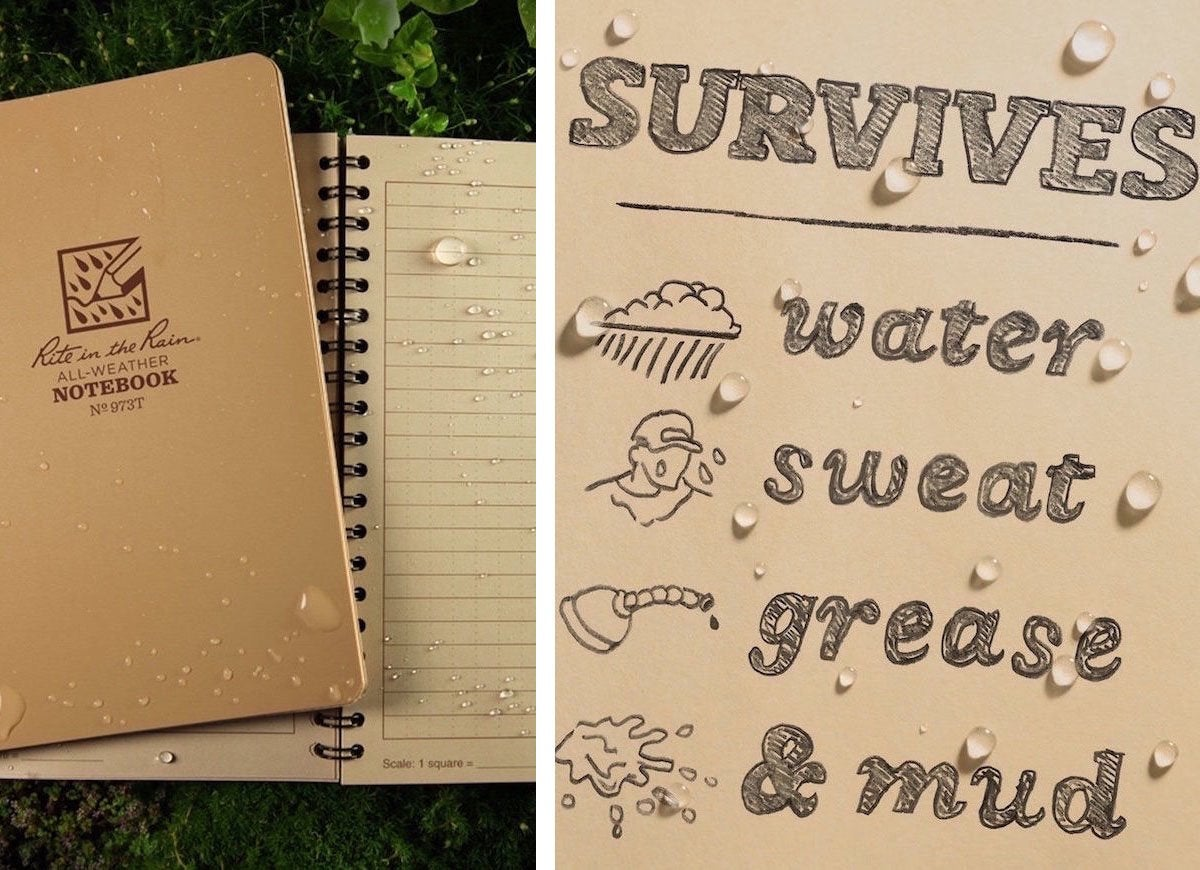 Rite rain weatherproof notebook