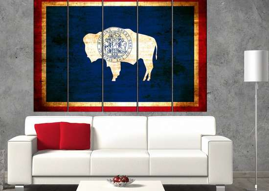 Wyoming State Flag Art