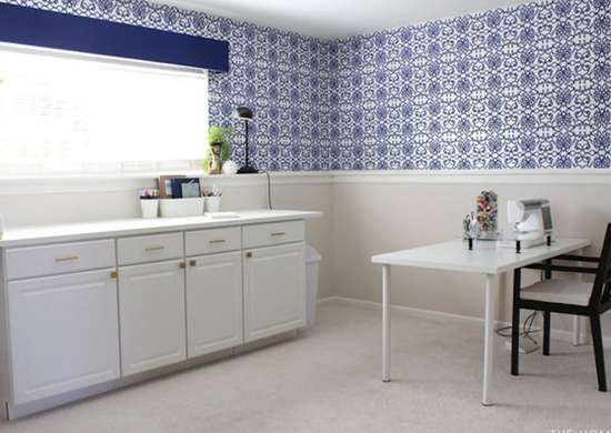 Renter friendly wallpaper installation 14