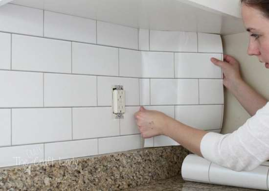 Diy subway tile temporary backsplash