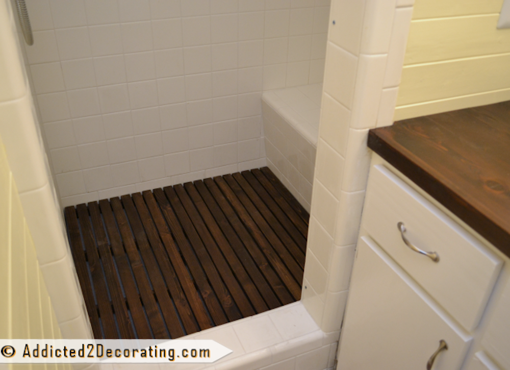 Cedar shower floor 4