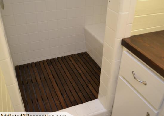 Cedar shower floor 4