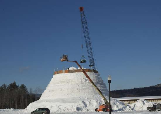 World's Tallest Snowman - Bethel, Maine