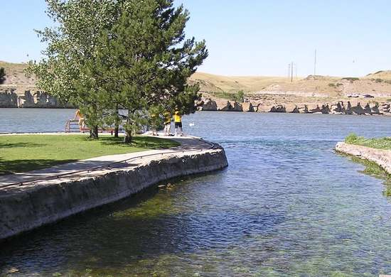 World's Shortest River - Great Falls, Montana