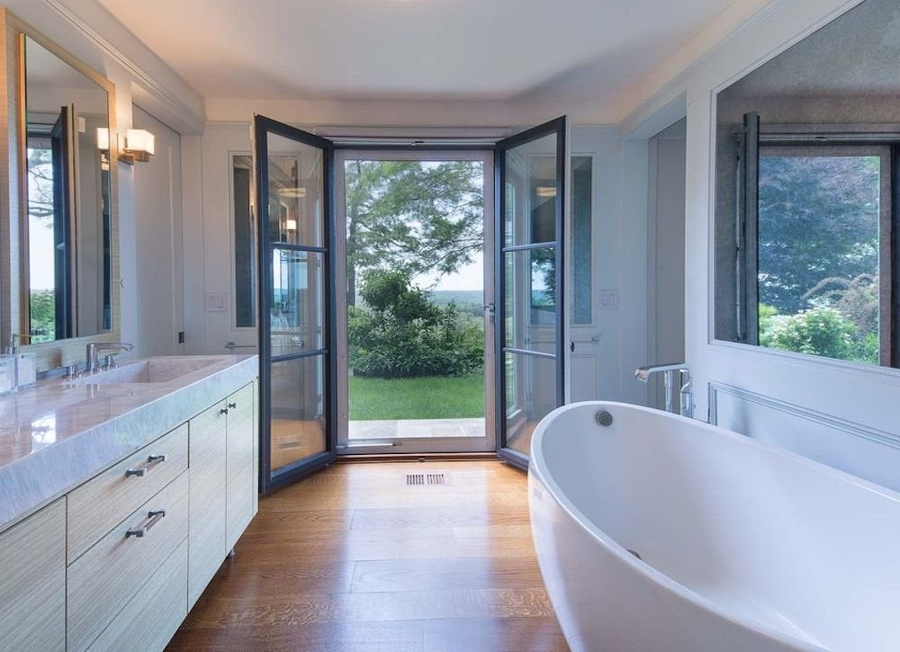 French door bathroom