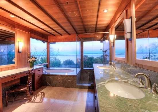 Large Windows in the Bathroom