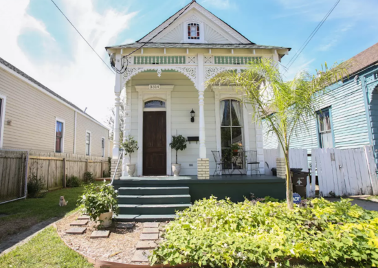 White shotgun house