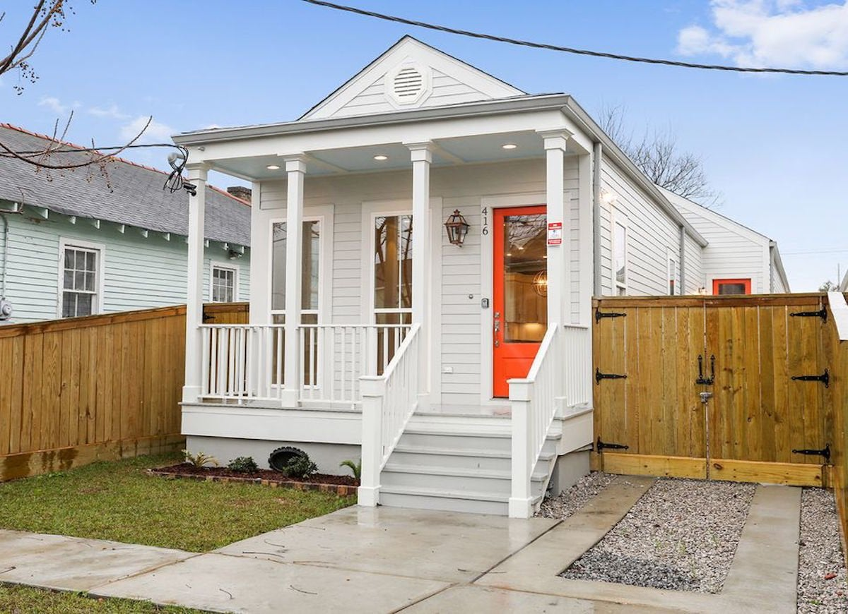 Orange-white-shotgun-house