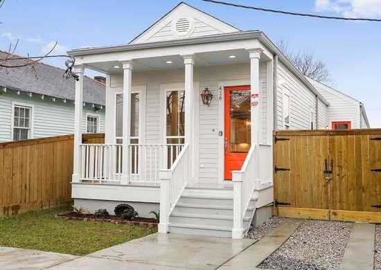 Orange-white-shotgun-house