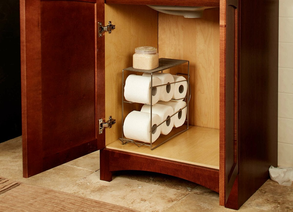 Rolling toilet paper dispenser