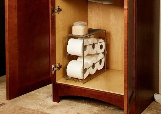 Rolling toilet paper dispenser