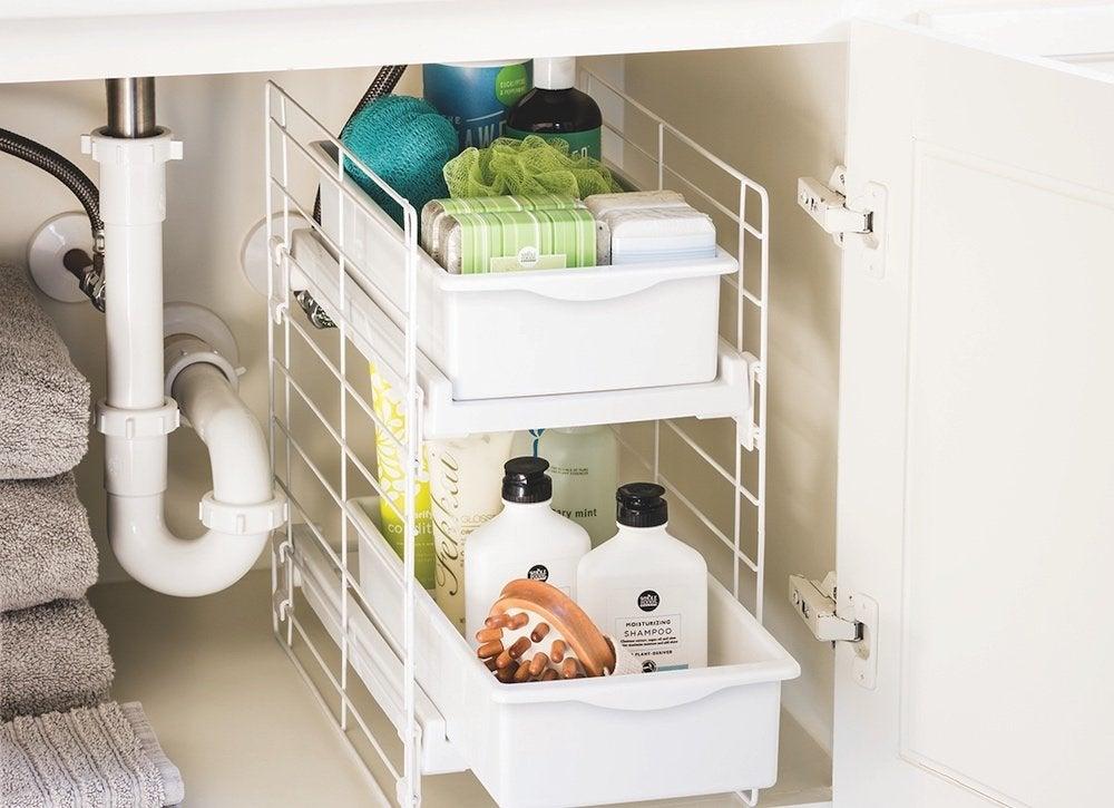 bathroom vanity organizer