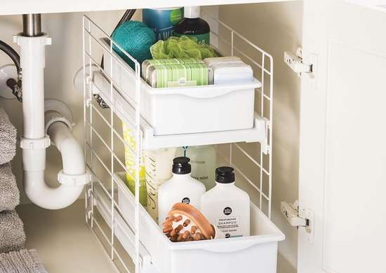 Sliding 2-Drawer Vanity Organizer