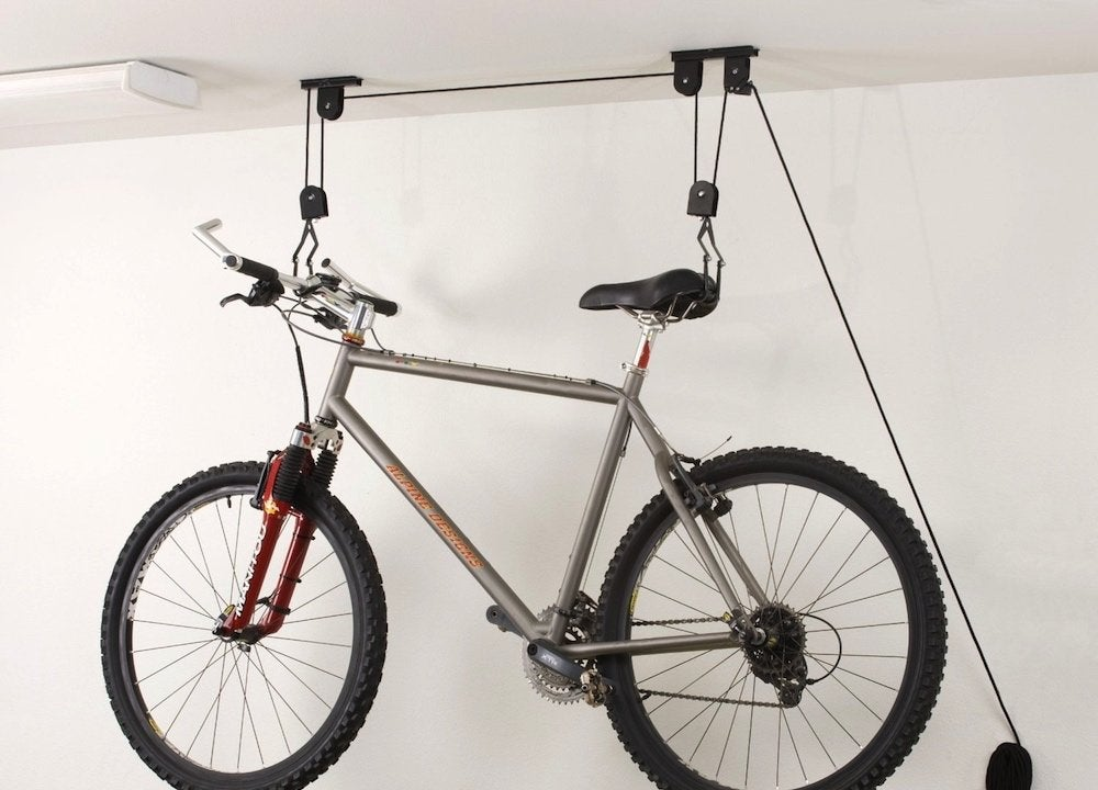 Ceiling bike hoist