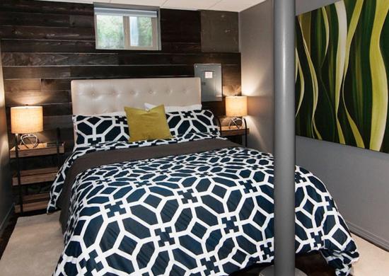 Patterns Basement Bedroom