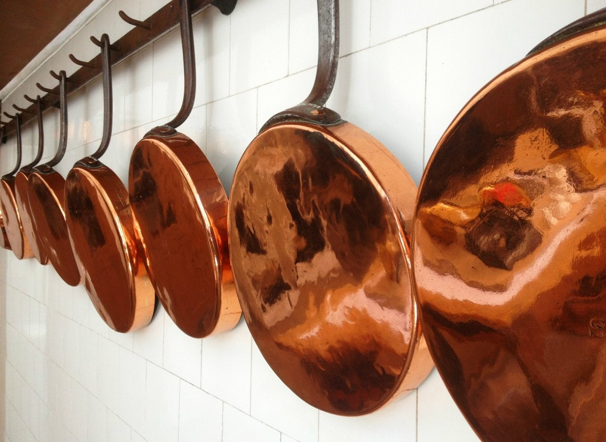 Clean copper with ketchup