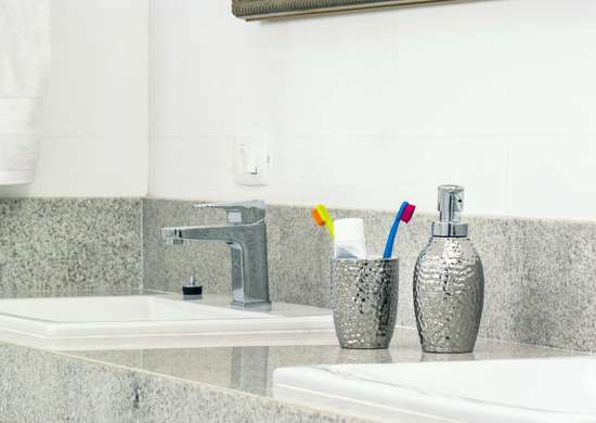 Clean chrome faucets with toothpaste