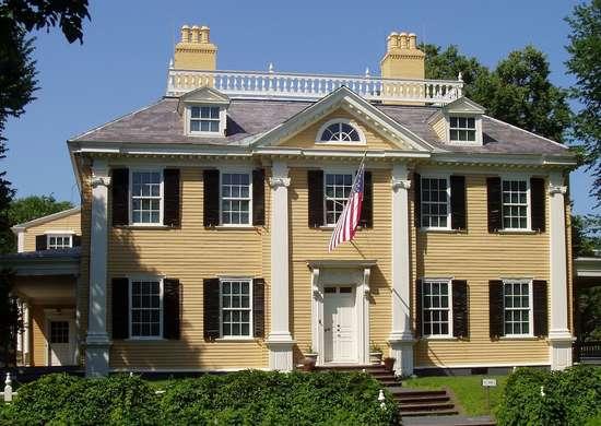 Longfellow House in Cambridge, MA