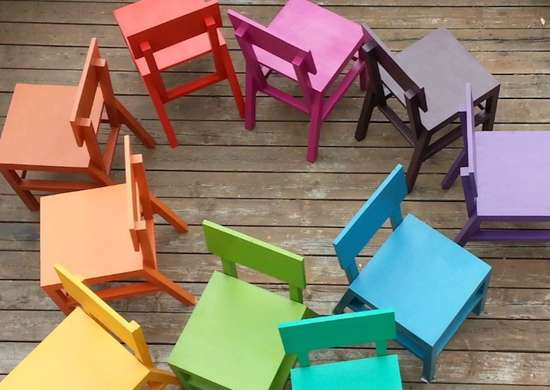 Ana white colorful chairs