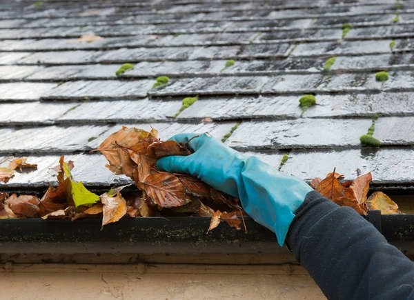 clean gutters before winter