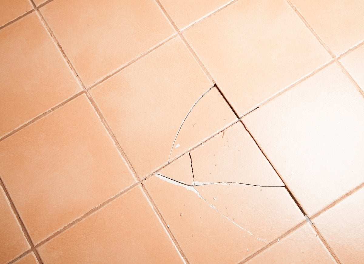 Cracked tiles