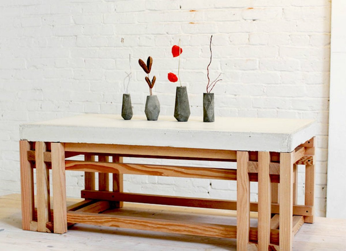 Concrete diy tabletop