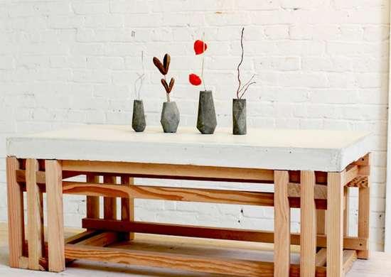 Concrete diy tabletop