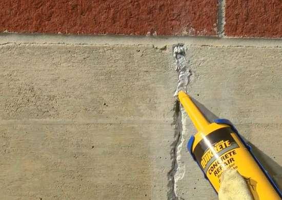 Quikrete concrete crack repair