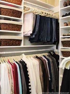Double decker master closet