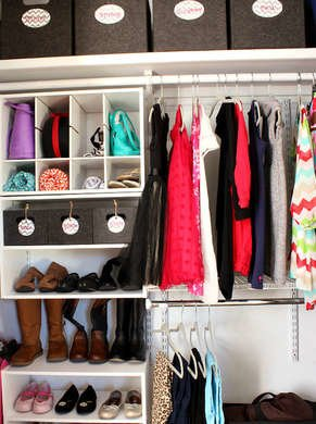 Kids closet cubbies