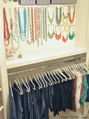 Jewelry storage closet